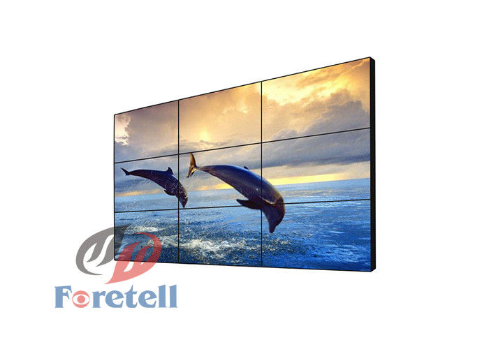 "High Resolution LCD Video Wall Displays  55"" With Built - In Splicing Controller"