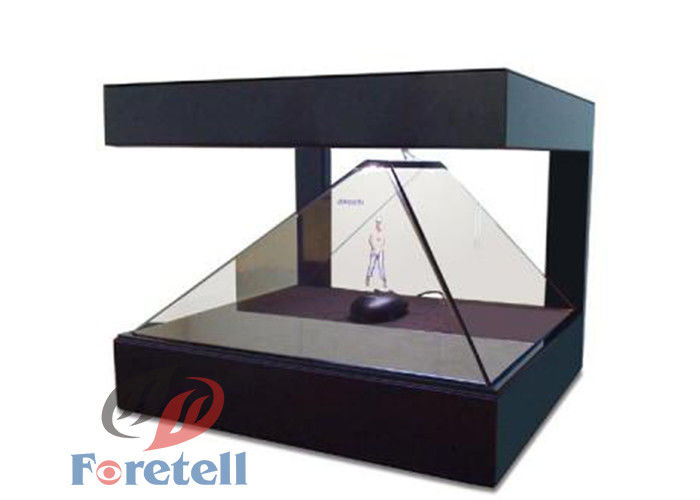 Remote Control Hologram Window Display , 3d Hologram Screen Cabinet For Jewelry